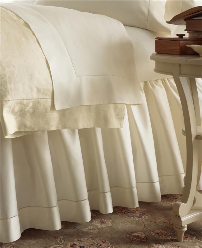 Sferra FIONA IVORY KING Flat Sheet Egyptian Cotton Sateen 300TC ITALY - NEW