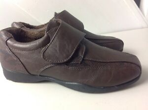 Vgc Dr Keller Comfort 'marie' Touch Fasten Shoes In Brown Leather Uk 4 Numerous In Variety