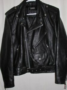 306070710 Details about CLASSIC Vintage WILSONS LEATHER BIKER Motorcycle JACKET  Medium THINSULATE