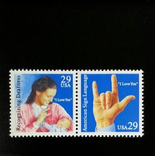 1993 29c Deaf Communication, Pair Scott 2783-84 Mint F/