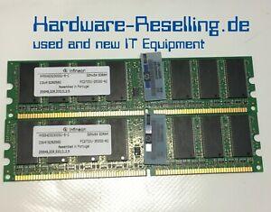 2x Infineon HYS64D32300GU-6-C 256MB PC-2700 DDR 333MHz HP #305957-041