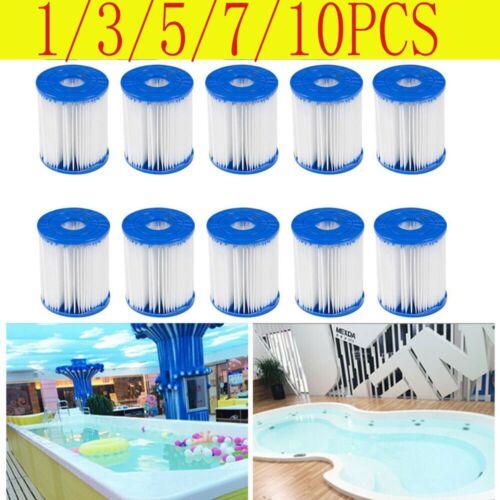10PACK Spa Swimming Pool Bestway Replacement Filter Pump Type D Cartridge Set UK