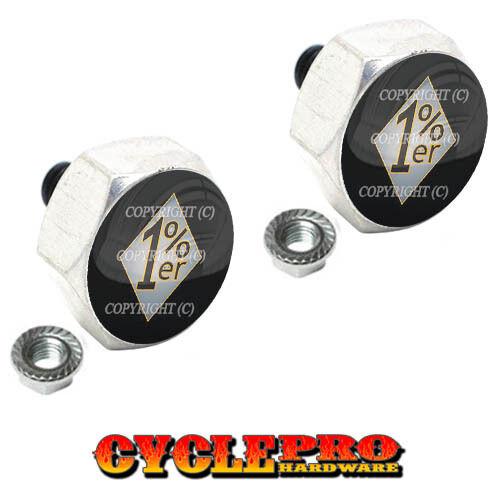 2 Silver Billet Hex License Plate Frame Tag Bolts 029 1 /% ER PERCENT