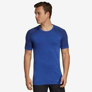 New-adidas-Ultra-Light-Mens-Climalite-T-Shirt-Sz-XL-Blue-gym-running-sport