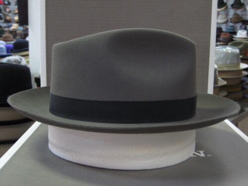 STETSON DOWNS CARIBOU FUR FELT C-CROWN DRESS HAT