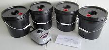 Quad 2 Gallon Deep Water Culture (DWC) Grow Bucket Hydroponic System Kit