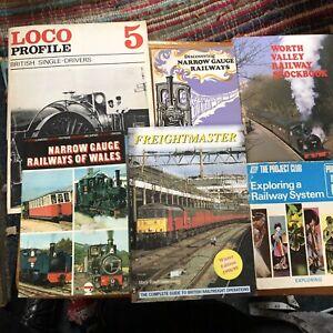Railway-Books-Joblot-6-loco-trains-Railwayana-narrow-gauge-freightmaster-vintage