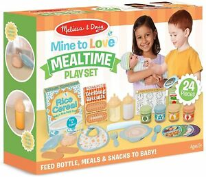 NEUF MELISSA & DOUG mine à aimer les repas lot jeu pour bébé poupée livraison gratuite