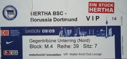 Borussia Dortmund VIP TICKET 2008//09 Hertha BSC Berlin