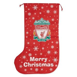 LIVERPOOL F.C JUMBO CHRISTMAS STOCKING OFFICIAL PRODUCT RED ...