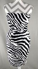 Express Design Studio 6 Dress Sheath Zebra Print Strapless Womens kfp1