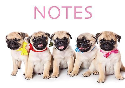 A6 Notepad Perfect for Handbag, Shopping List & Notes -  Pugs Galore Designs