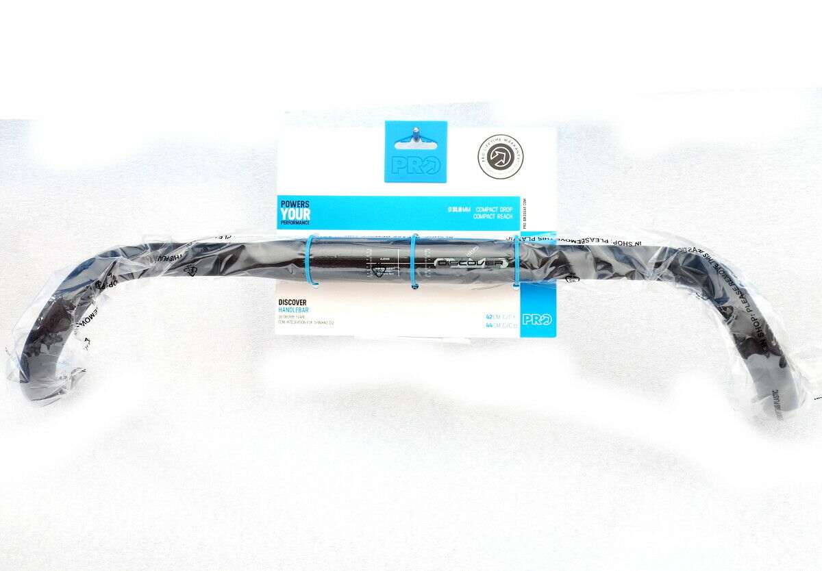 Shimano PRO Discover Handlebar 30  Flare Compact, Di2, 31.8mm  x 44cm  no minimum