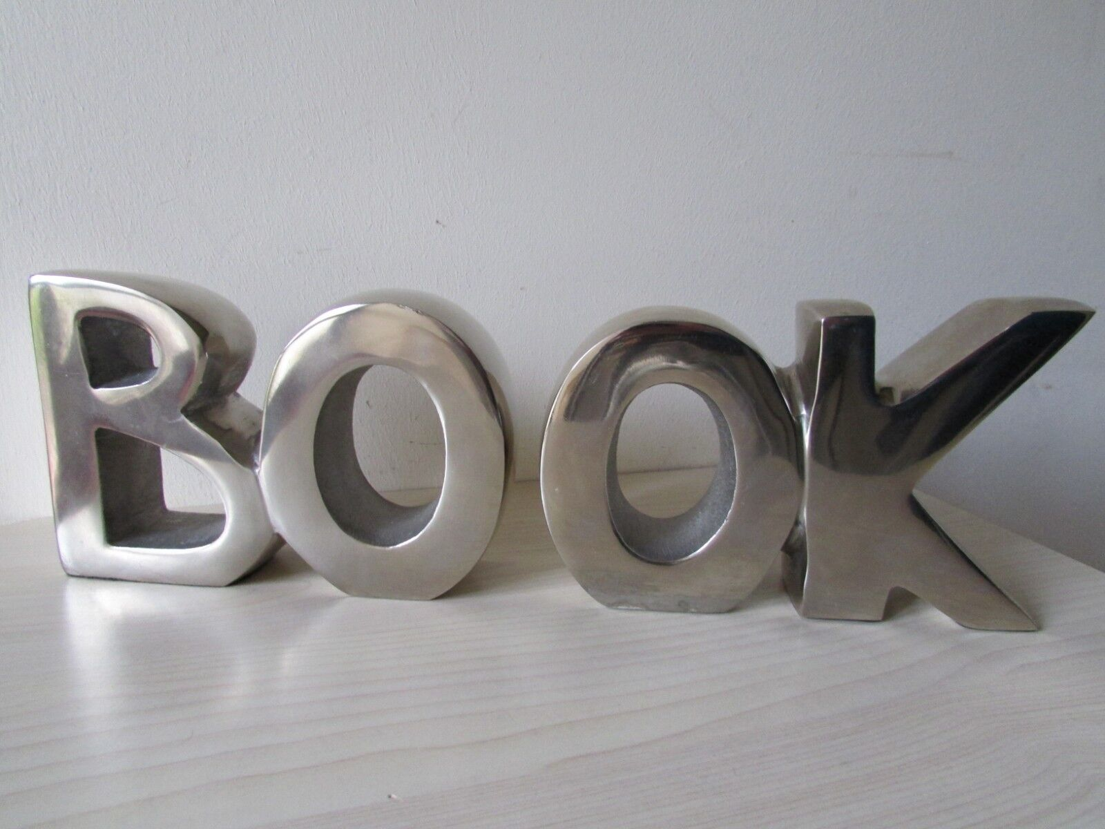 'BOOK' SOLID CAST ALUMINIUM 11.5 Cm LARGE LETTERS.