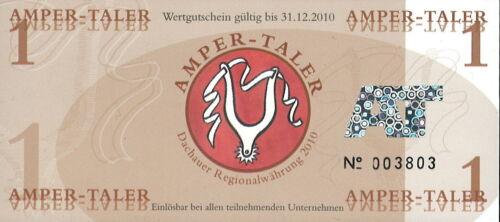 Amper-Taler 1 unit local currency POLYMER Gutschein 2010