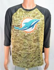 size 40 55a13 55dd0 Nike Miami Dolphins Salute to Service Men 3 QTR Sleeve Shirt ...