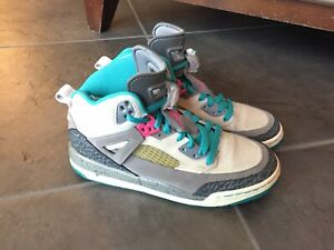 f4c9fbbb020 Details about Nike Air Jordan Spizike Miami Vice Gray Pink Green 317321 063  Sz 6Y