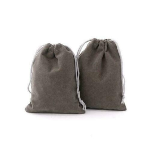 50//100X Velvet Drawstring Pouches Wedding Favors Bags Jewelry Gift Bag for Party