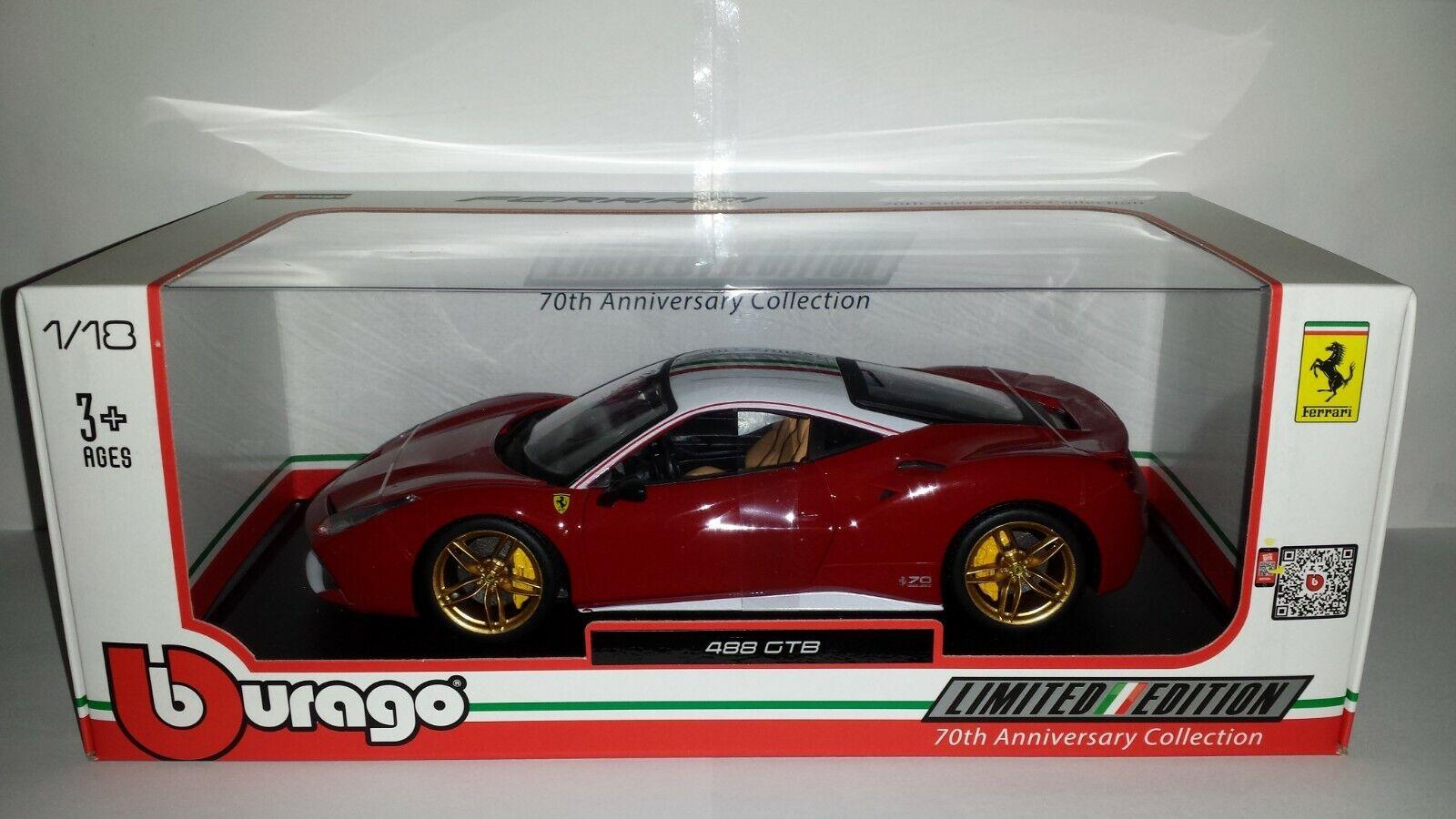 Bburago 1 18 Ferrari 488 GTB The Lauda 70 jaar Ferrari nieuw in verpakking