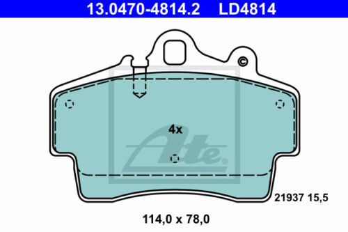 WK Vorderachse VA 986 Ceramic Beläge für PORSCHE BOXSTER ATE Bremsscheiben