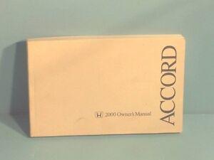 00 2000 honda accord sedan owners manual ebay rh ebay com 2000 honda accord owners manual pdf 2000 honda accord coupe owners manual