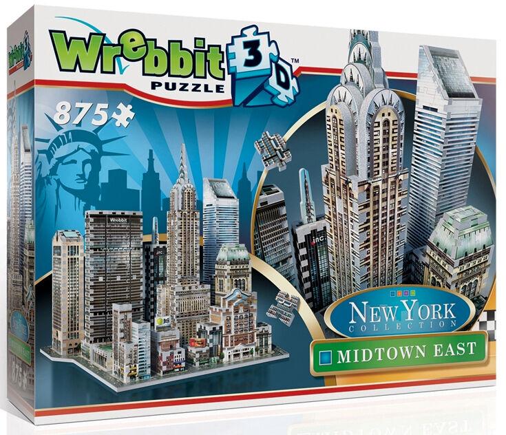 3D Puzzle - New York - Manhattan - Midtown East, 875 Teile, Amerika, Wrebbit