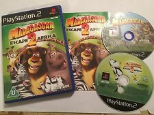 2 x Giochi Playstation 2 PS2 MADAGASCAR 1 + 2 Escape Africa UK/Euro PAL