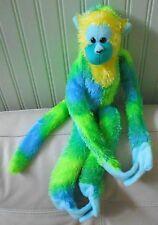 "HANGING MONKEY Plush Stuffed WILD REPUBLIC Green Yellow 23"""