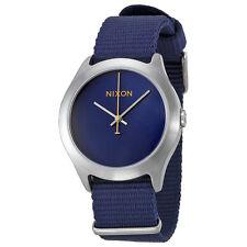 Nixon Mod Navy Blue Dial Navy Nylon Mens Watch A348307