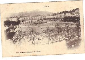 69-cpa-LYON-Place-Bellecour