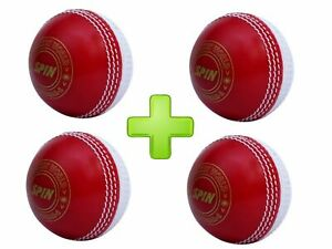 CW SPIN INCREDIBLE PVC POLY SOFT PRACTICE CRICKET BALL FOR ALL AGE PLAYER 6 PC