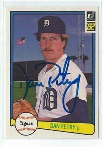Dan Petry Signed 1982 Donruss Card #133