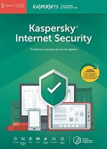 Kaspersky Internet security 2021 5 PC Device 1 Anno - Fatturabile