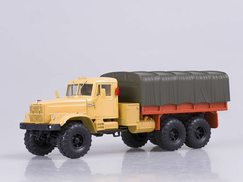 KRAZ-255B orange Soviet Retro truck 1 1 43 diecast scale model