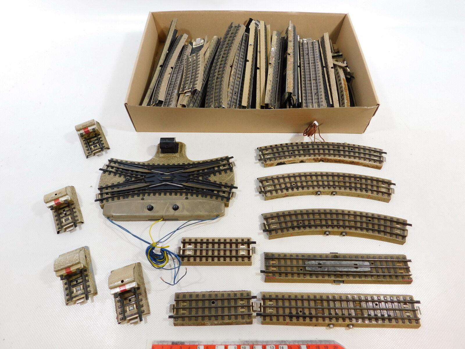 CB184-3  62x Märklin H0 00 AC M-Gleis Prellbock etc für 3600 800, Bastler gut