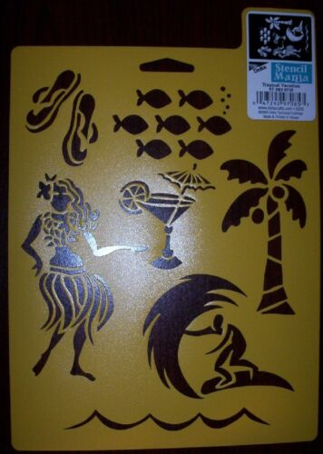 """17 variations to choose from 10/"""" x 7/"""" Delta Stencil Mania New"""