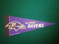 BALTIMORE RAVENS NFL LICENSED MINI PENNANT, NEW