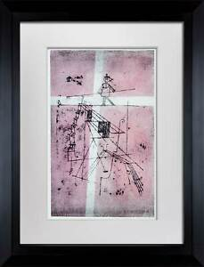 Paul-KLEE-Lithograph-LTD-Edition-Tightrope-Walker-034-w-FRAME-Included