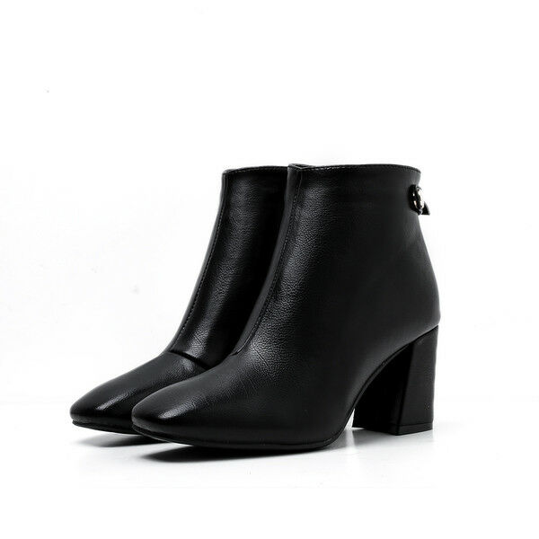 Stiefeletten stiefel absatz quadrat schwarz elegant 7 cm komfortabel komfortabel komfortabel simil leder a9f8e4