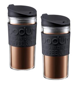 Bodum Travel mugs Twin Pack Offre noir en plastique 0.35 L//12 oz environ 340.19 g
