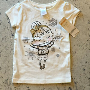 GYMBOREE-Girl-039-s-Cotton-Top-Size-18-24-Months-Cream-S-S-SPARKLY-Winter-Girl-NWT