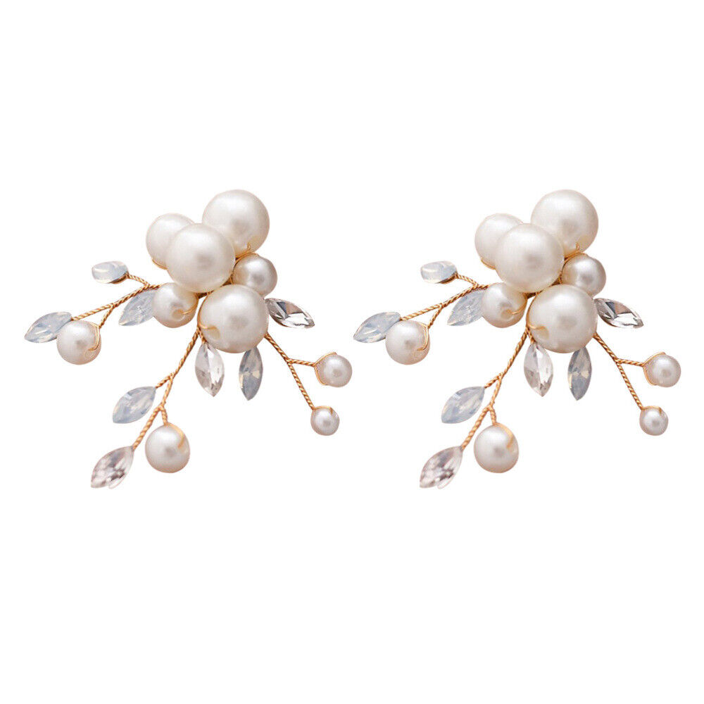 1 Pair Simple Stylish Shoes Buckle Removable Pearl Shoes Flower for Women Lady