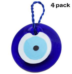 4-Pack-3-034-Large-Turkish-Blue-Evil-Eye-Amulet-Wall-Hanging-Decor-Protection