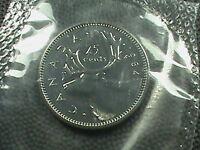 CANADA    25 cents   1984   BRILLIANT  UNCIRCULATED   ,   MINT  SET  ,  CARIBOU