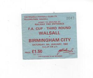 Walsall-v-Birmingham-City-Ticket-Stub-FA-Cup-3rd-Round-08-01-1983