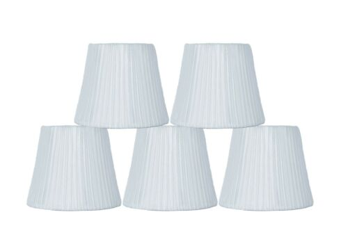 6-inch,Softback,Clip On Urbanest Box Pleated Chandelier Lamp Shade,Off white