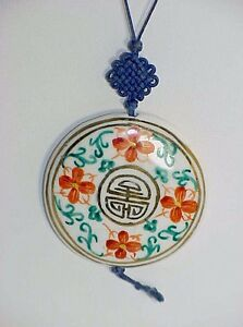 asian hand painted necklace
