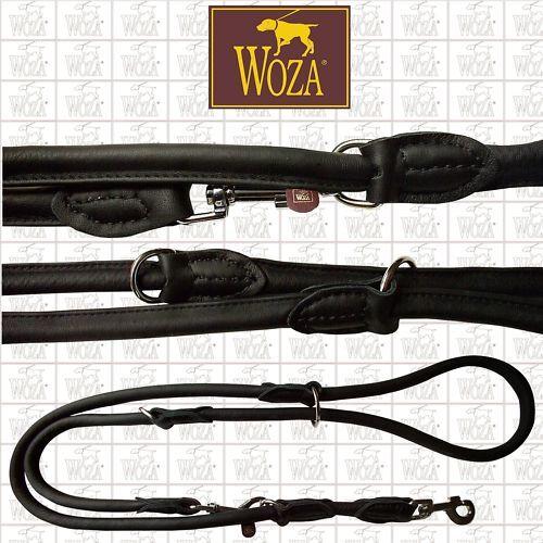 WOZA Premium Hundeleine Rundgenäht Handgenäht Volllederleine Rindnappa U22874  | Louis, ausführlich