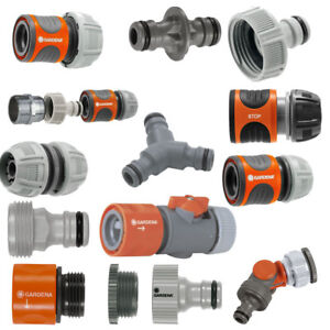 Gardena Hose Fittings Click Fit Compatible With Hozelock Claber And