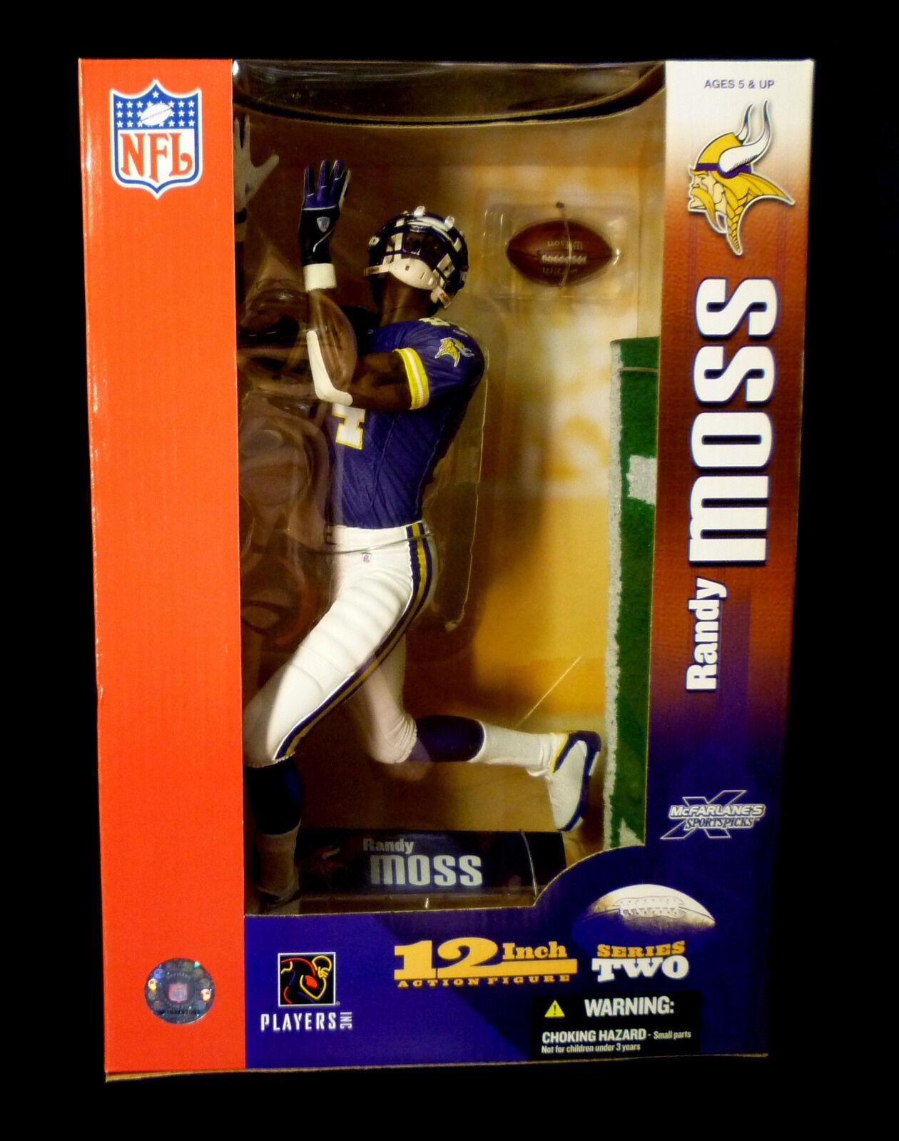 McFarlane Sports NFL Football 12  Randy Moss Series 2 Action Figure Vikings Nuovo